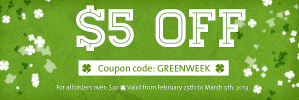 Coupon code February-March